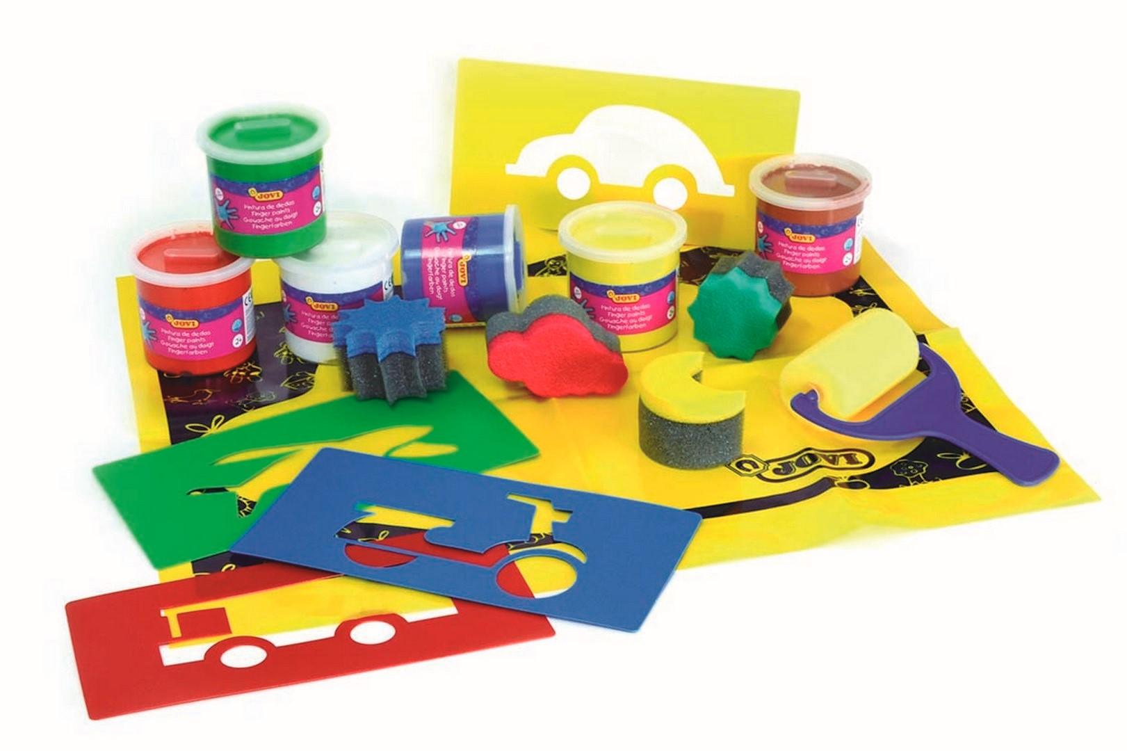JOVI box prstové farby,šablóny,valček,podložka
